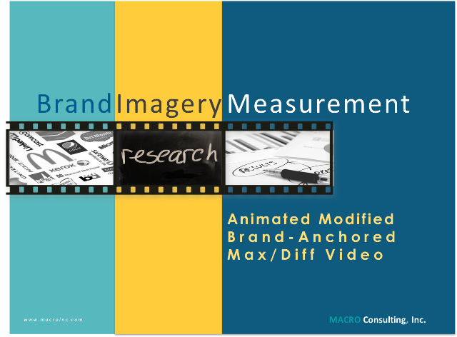 Animated Modified Brand Anchored MaxDiff Video
