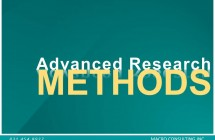 Webinar – Advanced Research Methods