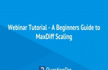 Webinar – A Beginners Guide to MaxDiff Scaling